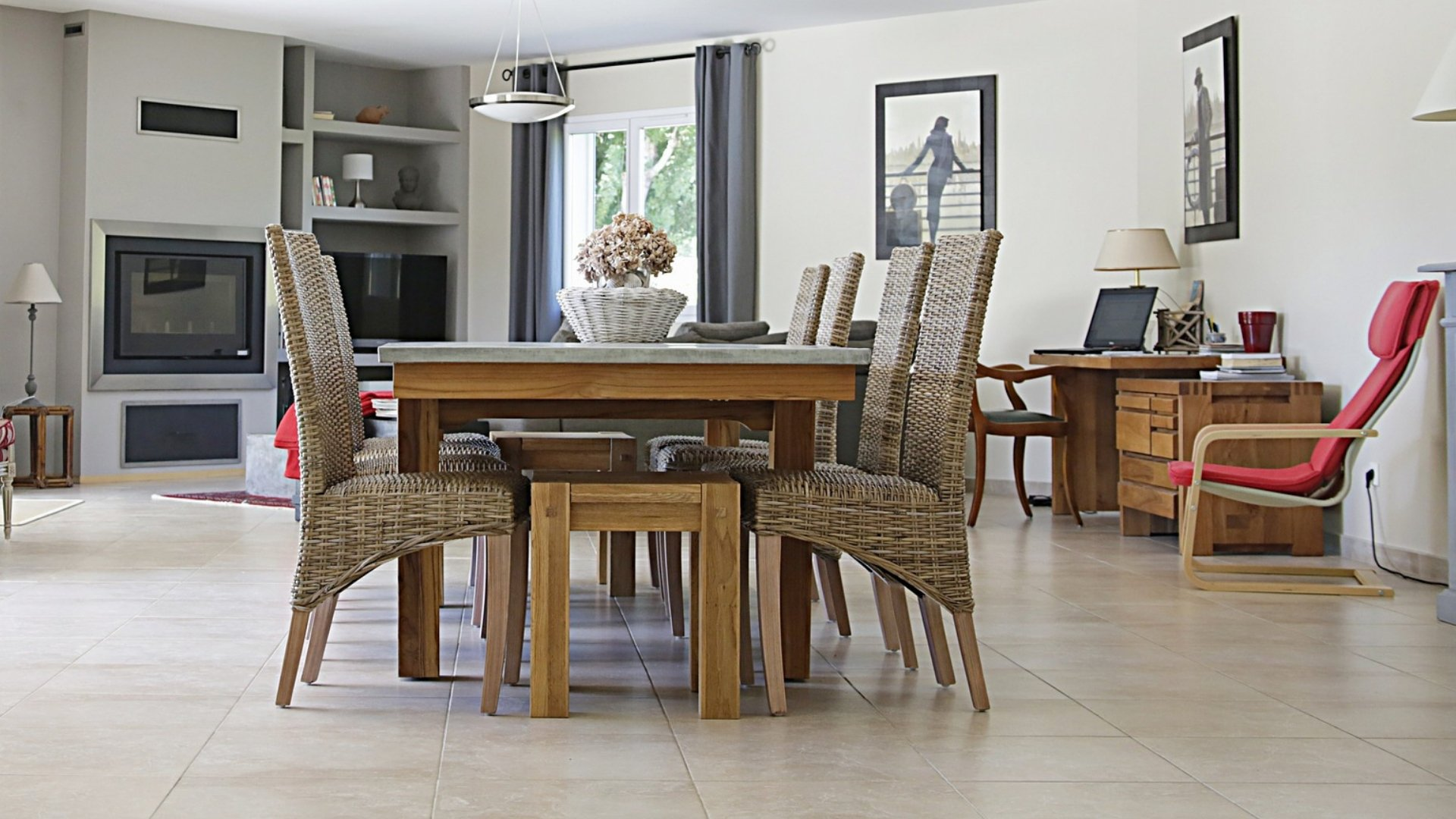 Dining Room in Zoned House