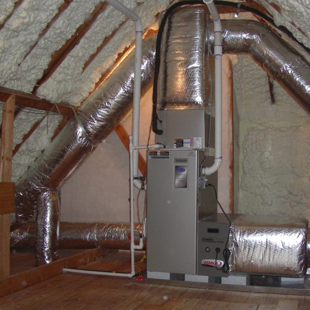 Attic Encapsulation Furnace and Insulation - Page Gallery