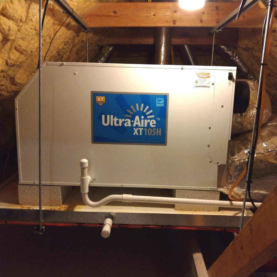 Dehumidifier Installed in Attic - Page Gallery