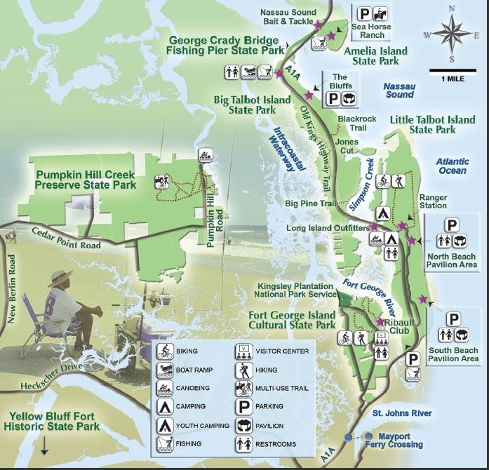 Little Talbot Island State Park Map