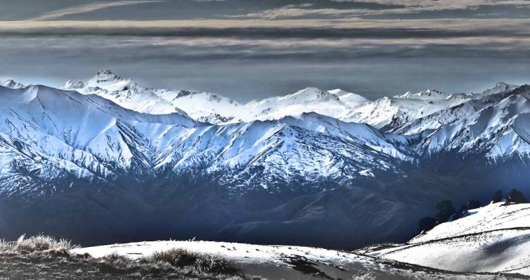 Mt Aspiring from the Snow Farm road, Cardrona Valley