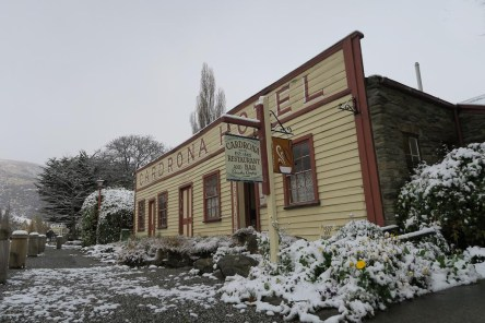 Cardrona Hotel and snow