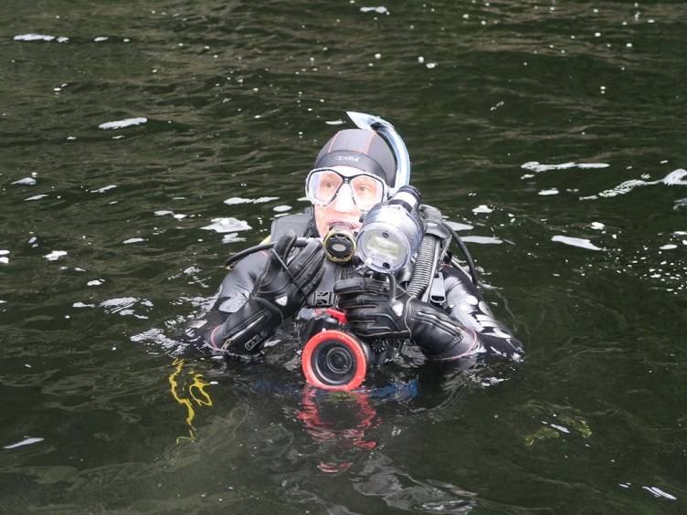 Diving in Preservation Inlet, Fiordland NZ