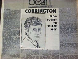 A sketch of Corrington to accompany the interview (artist unknown)