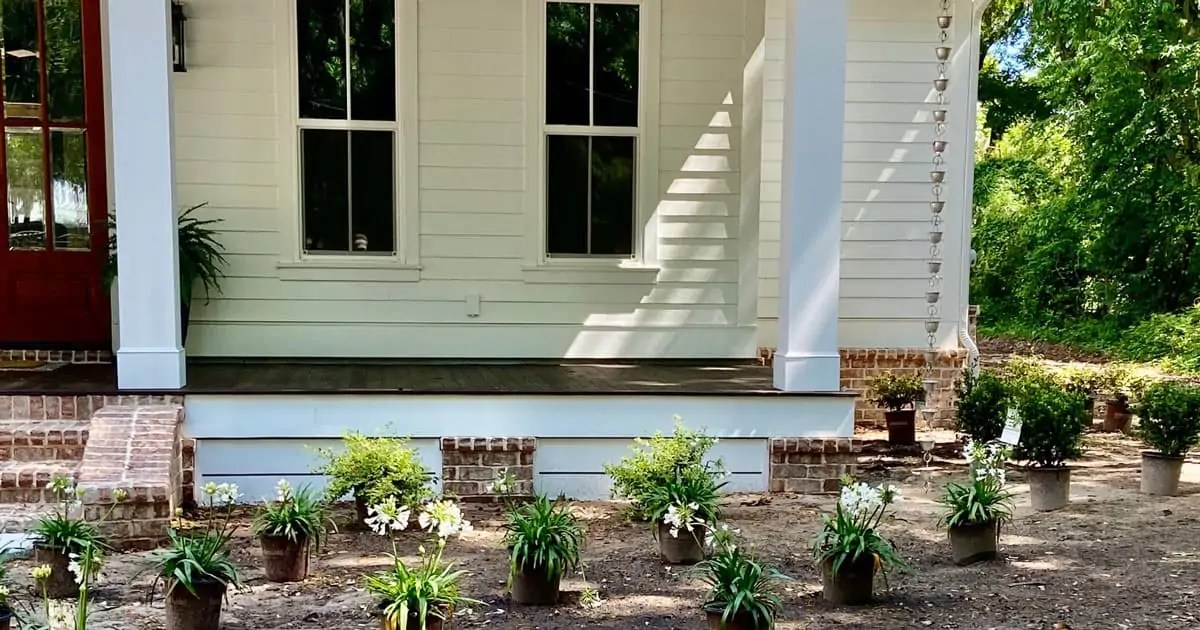 Creating A Diy Front Yard Landscape For Our Southern Cottage Southern Living Plants