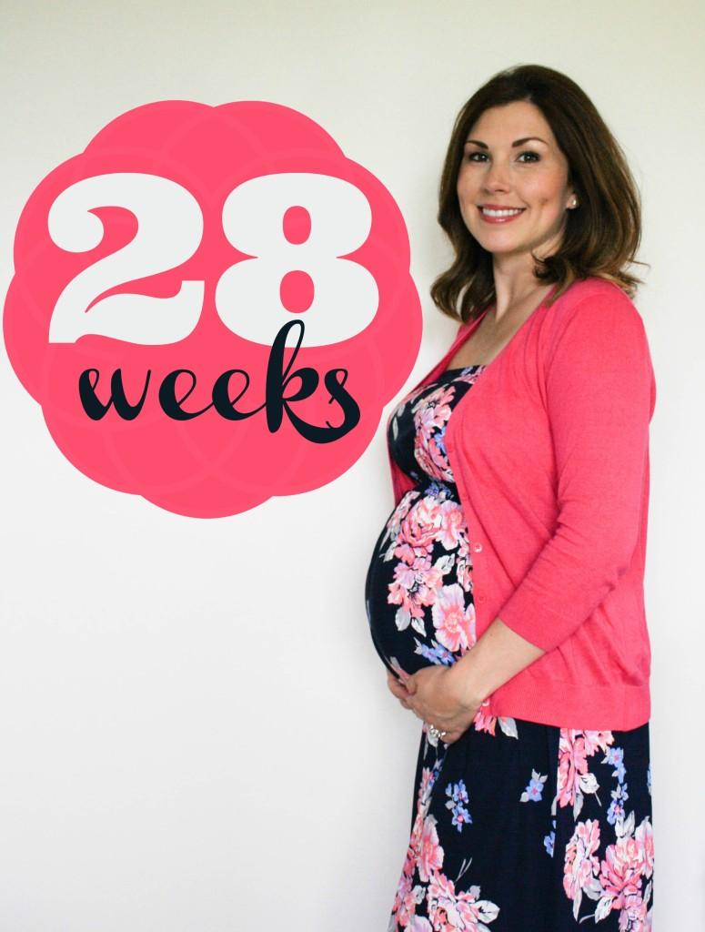Southern Made Blog- 28 weeks Pregnancy Chalkboard Tracker