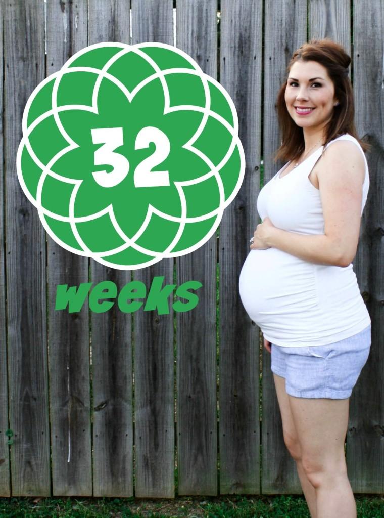 Southern Made Blog- 32 weeks Pregnancy Chalkboard Tracker