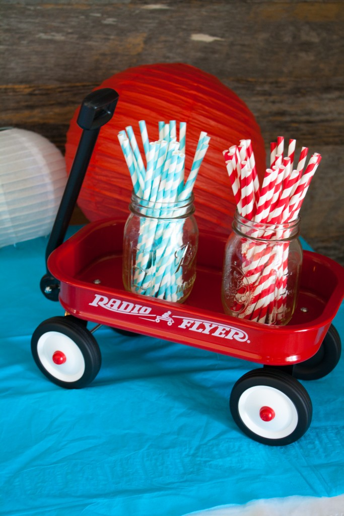 I loved this fun Little Red Wagon first birthday party for Rohen! The red, white, and blue was perfect for his July birthday celebration.