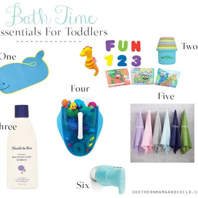 Toddler Bath Time Essentials