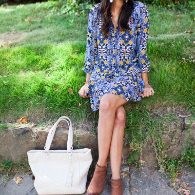 Blue Florals For Fall