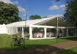 West Dean College - The clear gable window allowed light to flood into the marquee.