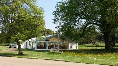 West Dean College is a beautiful wedding venue for our multi span marquees.