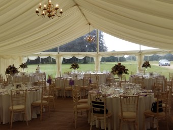 Stansted Park in Rowlands Castle in Hampshire provides the perfect location for this marquee wedding.