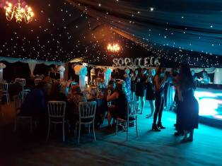 Our new multispan marquee creates an amazing party venue.