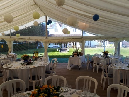 Hollybank House is a beautiful wedding and party venue and our marquees give you the best views from inside too!