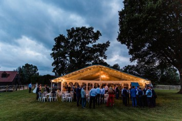 The strong winds of the day relented in the afternoon and the evening proved much calmer and the wedding guests were able to enjoy the summer evening...