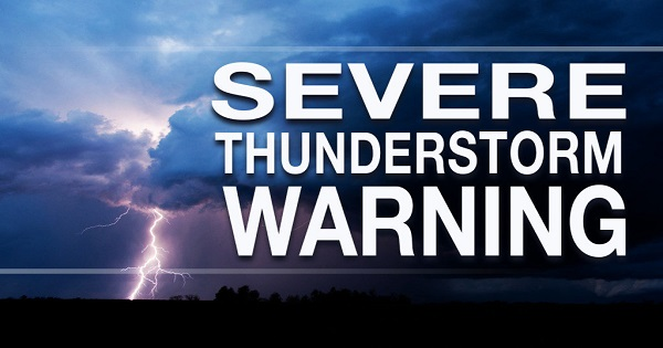 severe thunderstorm warning issued for parts of somd