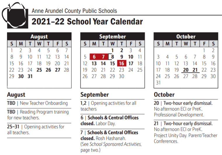 Aacps Calendar 2021-22 Anne Arundel Board Of Education Adopts 2021 2022 School Year