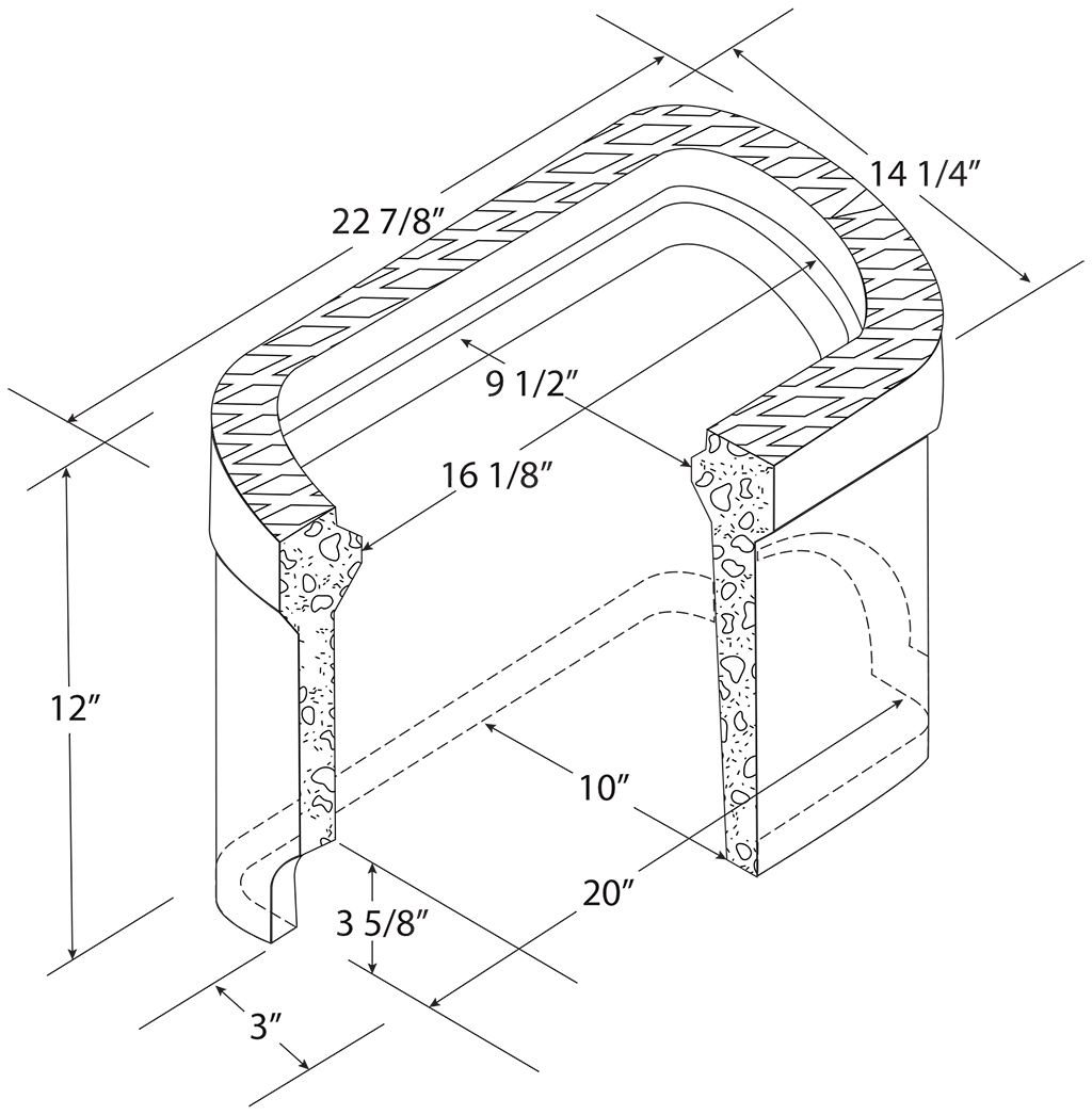 C H 3 4 Concrete Meter Box