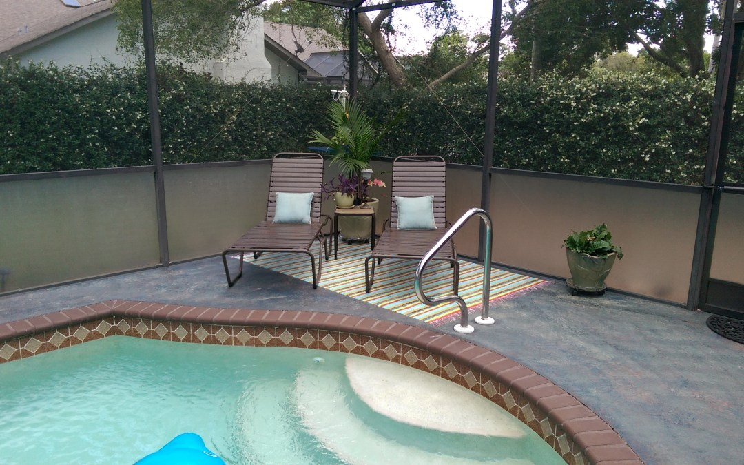 How I Painted My Pool Deck And Faux Rag Rugs