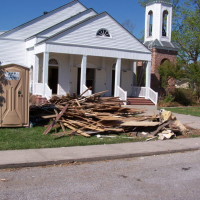 St. John's Church in Henry, LA after Colgate clean up