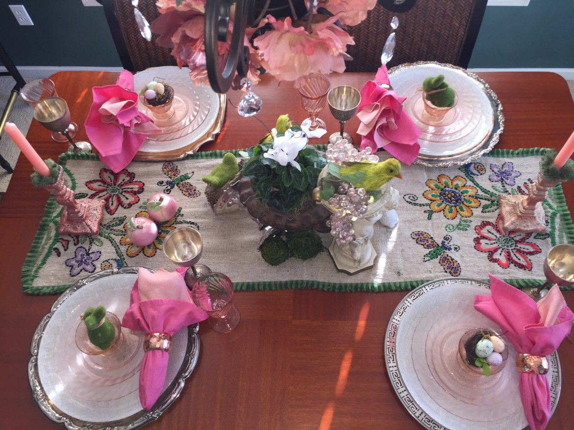 Spring Table - top down - blush