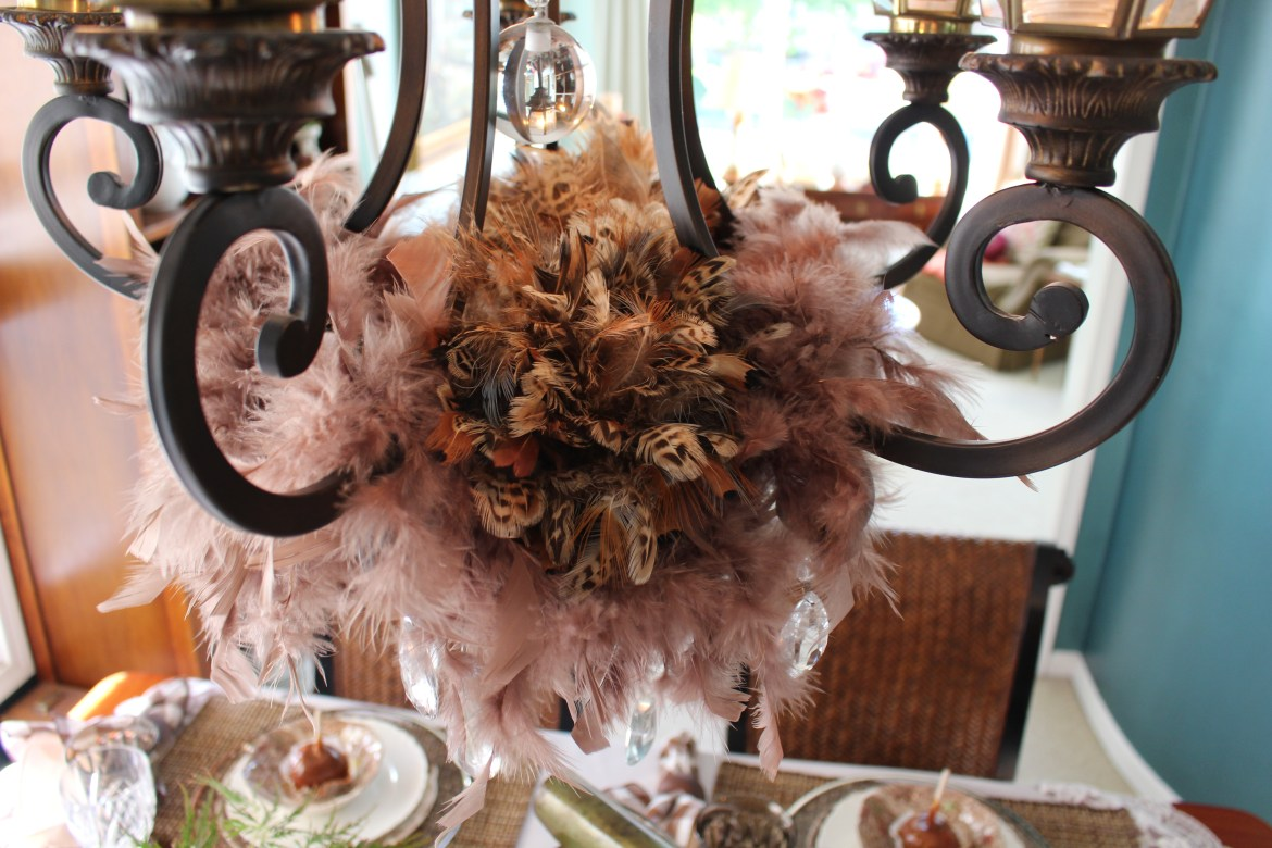 How to Decorate a Chandelier for Fall