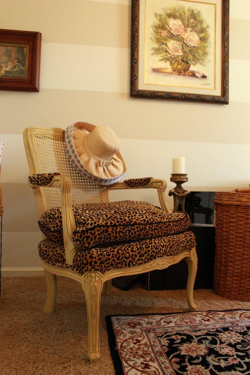 Cheetah print Vintage Chair