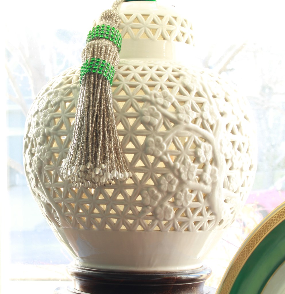 Vintage Articulated Chinoiserie Lamp