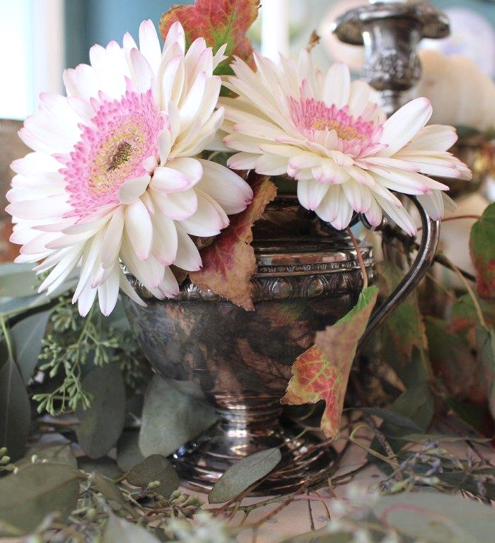 Vintage Silver in Fall Decor