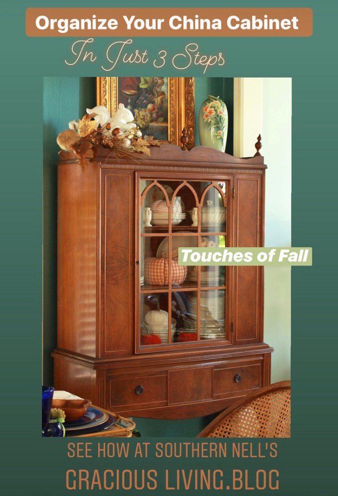3 Steps to Organize Your China Cabinet for Fall
