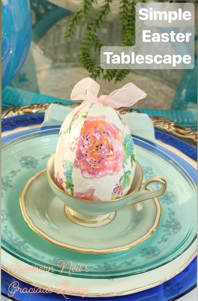Chinoiserie Spring to Easter Tablescape