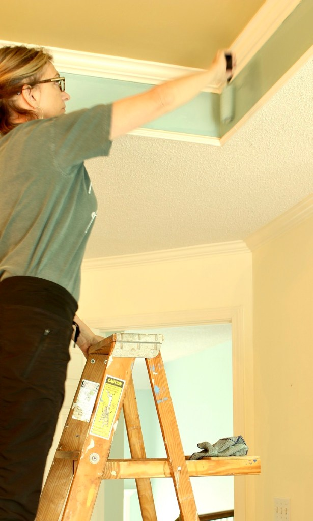 Painting Tray Ceiling - DIY