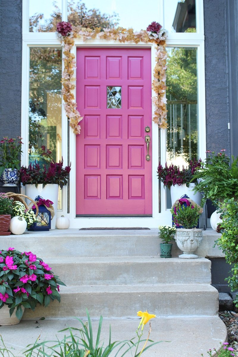 Fun Plum-themed Fall Front Porch