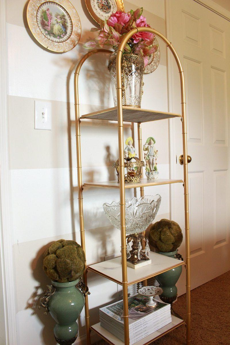 Vintage Brass Bookcase Upcyle