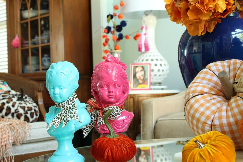 Colorful Fall Living Room Decor