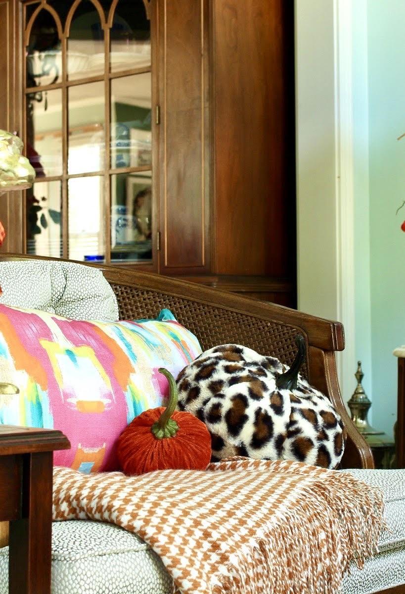 Animal Print Fur Pumpkin Throw Pillow