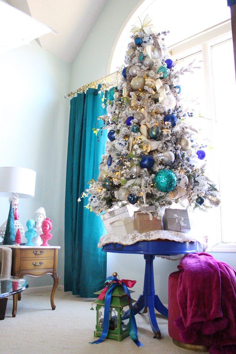 Flocked White Christmas Tree