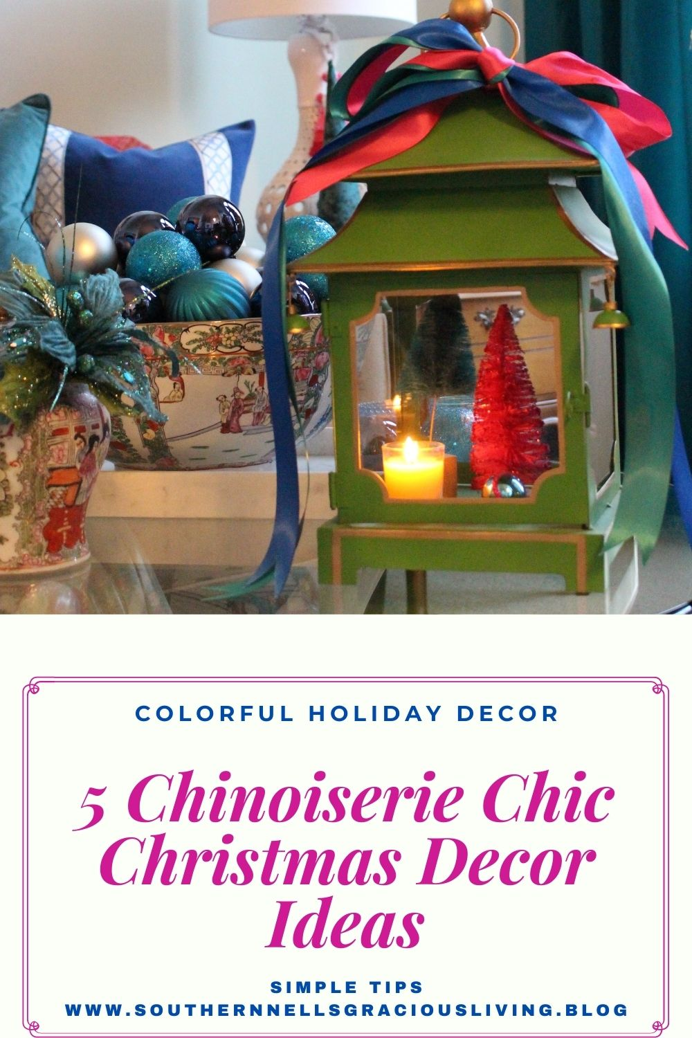 Colorful Chinoiserie Holiday Items