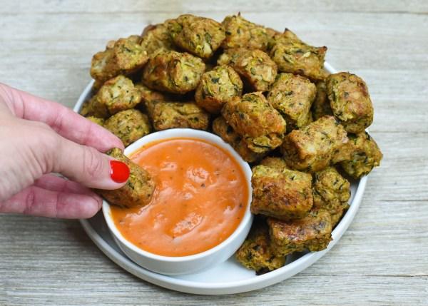 Healthy Cauliflower Zucchini Tater Tots