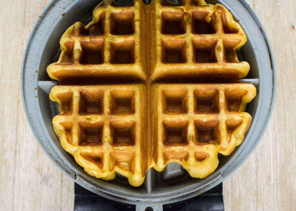 Pumpking Spice Waffles with Cinnamon Honey Butter