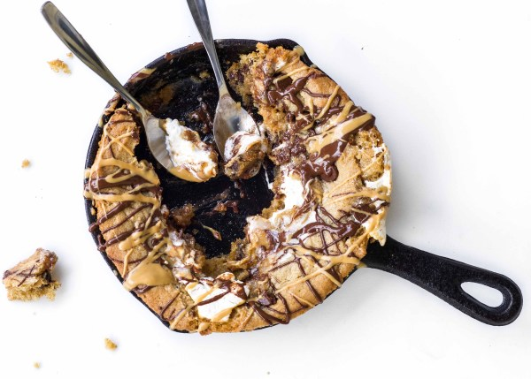 Peanut Butter Marshmallow Cookie Skillet