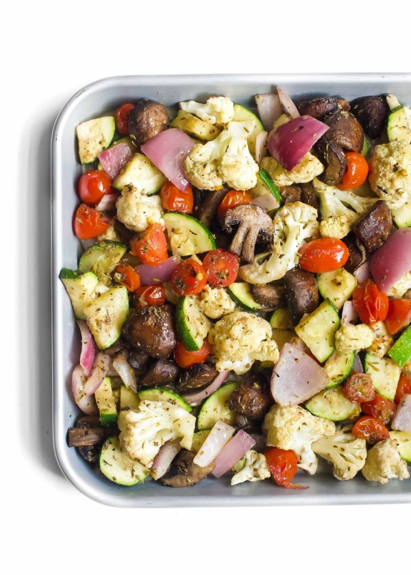 One Pan Italian Roasted Vegetables
