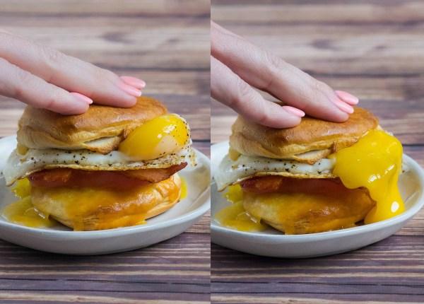 Valentine's Day Cheesy Breakfast Biscuit
