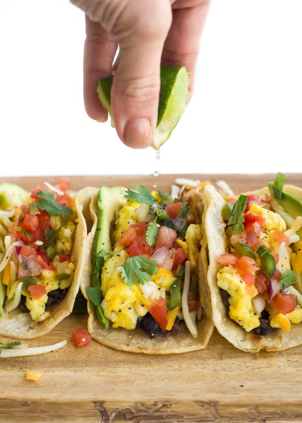 20-Minute Cheesy Southwest Breakfast Tacos