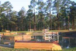 Water obstacle at Southern Pines CDE