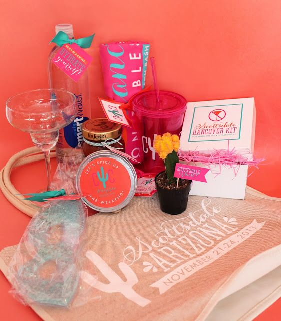 pinterest find bachelorette party welcome bag goodies