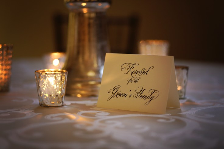 mercury glass votives | reserved wedding signs for the family | wedding by southern productions weddings and events