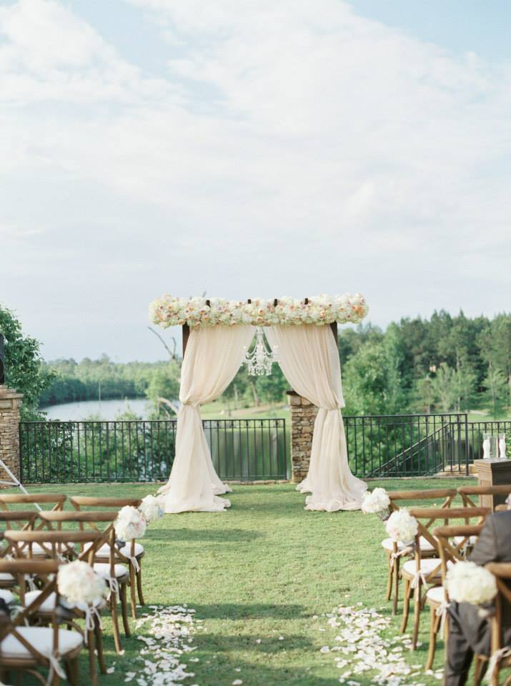 elegant outdoor ms wedding