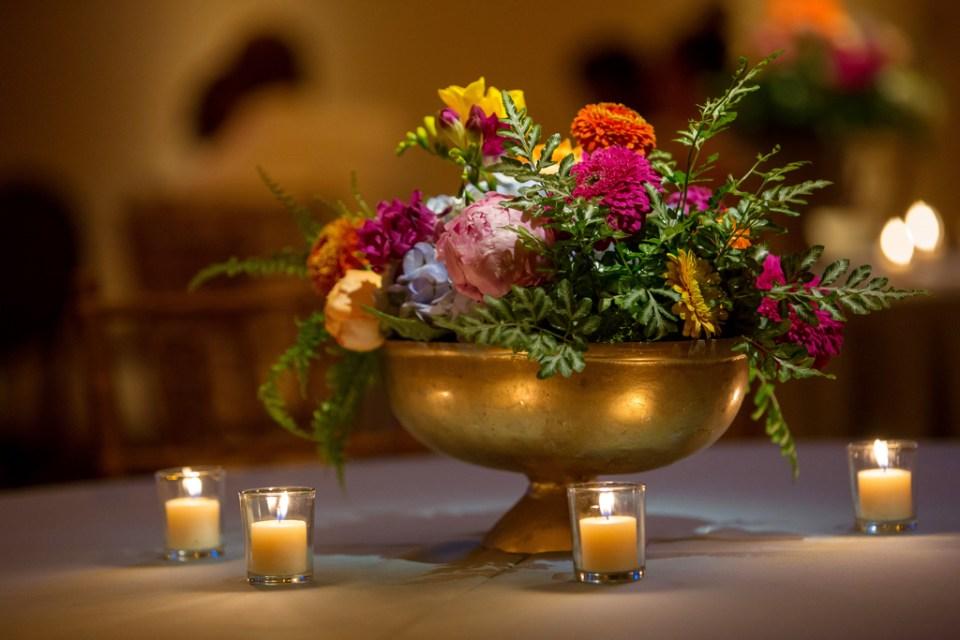 Mississippi Wedding with Bright Boho Centerpiece